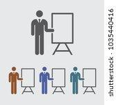 presentation meeting vector icon   Shutterstock .eps vector #1035440416