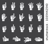hand sign flat icons | Shutterstock .eps vector #1035442540