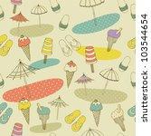 beach seamless pattern | Shutterstock .eps vector #103544654