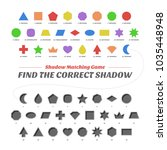 shadow matcing game. find the...   Shutterstock .eps vector #1035448948