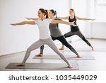 yoga group class | Shutterstock . vector #1035449029
