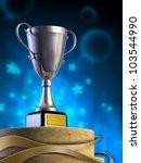 metal cup on a pedestal.... | Shutterstock . vector #103544990