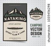 camping adventure vector.... | Shutterstock .eps vector #1035456298