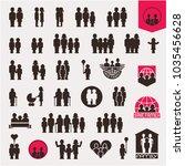 family. family icons set....   Shutterstock .eps vector #1035456628