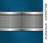 blue metal perforated... | Shutterstock .eps vector #1035457588