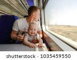 young man   father  travelling... | Shutterstock . vector #1035459550