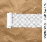 torn paper edge transparent... | Shutterstock .eps vector #1035462676