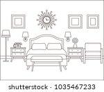 room interior. hotel bedroom... | Shutterstock .eps vector #1035467233