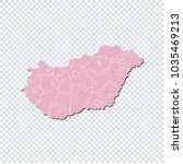 hungary map   high detailed... | Shutterstock .eps vector #1035469213