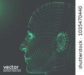 artificial intelligence green... | Shutterstock .eps vector #1035470440