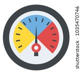 speed metering or rating meter... | Shutterstock .eps vector #1035470746