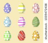a set of colourful decorated... | Shutterstock .eps vector #1035472438