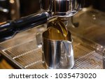 close up coffee shot from... | Shutterstock . vector #1035473020