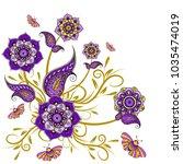 paisley pattern. ornate... | Shutterstock .eps vector #1035474019