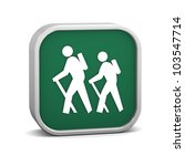 hiker sign on a white... | Shutterstock . vector #103547714