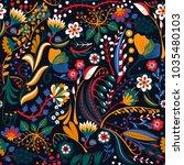 floral seamless pattern. hand...   Shutterstock .eps vector #1035480103