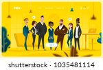 Main Page Web Design with Business Cartoon Characters in Flat Style for Your Projects | Shutterstock vector #1035481114