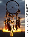 Dream Catcher With Sunset On...