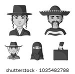 a mexican  a jew  a woman from... | Shutterstock .eps vector #1035482788