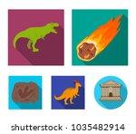 a falling meteorite... | Shutterstock .eps vector #1035482914