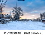 ostersund in winter jamtland... | Shutterstock . vector #1035486238