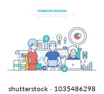 business teamwork  start up ... | Shutterstock .eps vector #1035486298