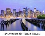 Lower Manhattan At Night In New ...