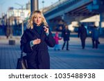 middle age woman at city  a... | Shutterstock . vector #1035488938