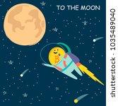 vector illustration of bitcoin... | Shutterstock .eps vector #1035489040