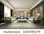 3d rendering luxury and modern... | Shutterstock . vector #1035490279