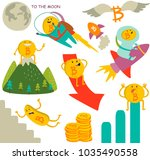 bitcoin ups and downs in vector ... | Shutterstock .eps vector #1035490558