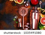 bar accessories  drink tools... | Shutterstock . vector #1035491080