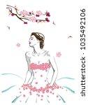 fashion illustration in new... | Shutterstock .eps vector #1035492106
