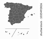 gray map spain provinces map.... | Shutterstock .eps vector #1035492826