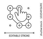 lock pattern linear icon. thin... | Shutterstock .eps vector #1035493690
