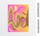 minimal cover design. fluid... | Shutterstock .eps vector #1035496150