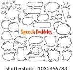 hand drawn doodle speech... | Shutterstock .eps vector #1035496783