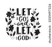 vector religions lettering  ... | Shutterstock .eps vector #1035497326