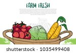 llustration of healthy food in... | Shutterstock .eps vector #1035499408