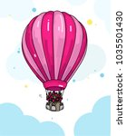 air balloon illustration with... | Shutterstock .eps vector #1035501430