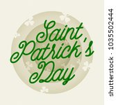 saint patricks day 3d paper cut ... | Shutterstock .eps vector #1035502444