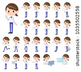 a set of women with who express ... | Shutterstock .eps vector #1035502558