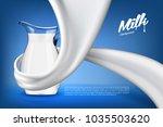 vector milk background banner ... | Shutterstock .eps vector #1035503620