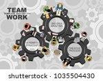 flat design illustration... | Shutterstock .eps vector #1035504430