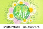 big spring sale banner.spring... | Shutterstock .eps vector #1035507976