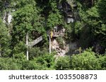 the buddha cave near the town...   Shutterstock . vector #1035508873
