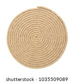 twisted rope on white background   Shutterstock . vector #1035509089