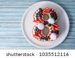 homemade cake in the shape of a ...   Shutterstock . vector #1035512116
