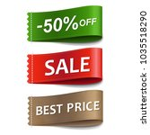 sale labels set | Shutterstock .eps vector #1035518290