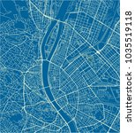 blue and white vector city map... | Shutterstock .eps vector #1035519118